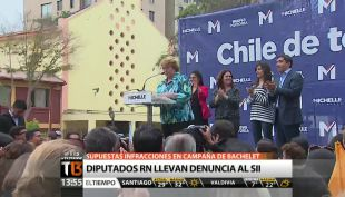 [T13 Tarde] Supuestas infracciones en campaña de Bachelet: diputados UDI denuncian ante el SII