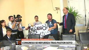 [T13] Congreso refuerza su seguridad tras episodio del pastor Soto