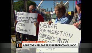 [T13] Así reaccionaron las calles de Cuba y EE.UU. a un día del histórico anuncio