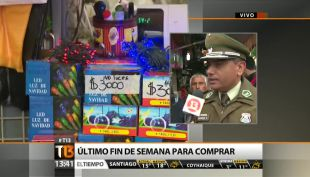 """[T13 Tarde] Carabineros explica plan de """"Navidad segura"""" en el barrio Meiggs"""