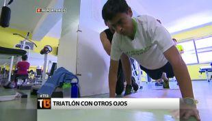 [Reporteros] La historia del primer triatleta ciego de Chile