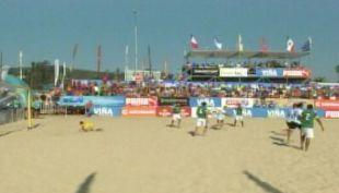 [T13] Así se vivió el inicio del cuadrangular de fútbol playa en Viña del Mar