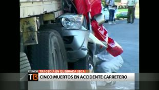 Cinco integrantes de una familia murieron en accidente carretero en Ovalle