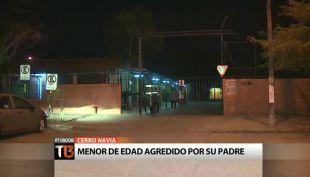 Menor de edad fue duramente agredido por su padre en Cerro Navia