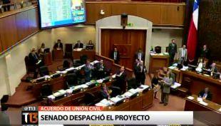 Senado despacha proyecto de Acuerdo de Unión Civil