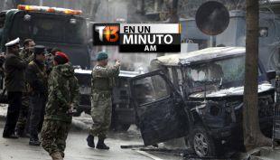 [VIDEO] #T13enunminuto: Chocan auto bomba contra vehículo diplomático en Kabul