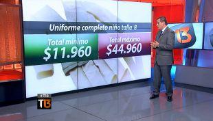 Sernac detectó diferencia de hasta 30 mil pesos en uniforme escolar