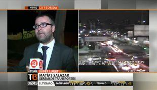 Seremi de Transportes y congestión en Vicuña Mackenna: La gente salió más temprano