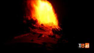 [VIDEO] El registro de la erupción del volcán Villarrica
