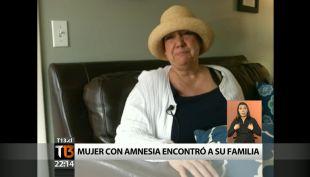 Mujer con amnesia logra encontrar a su familia tras gran campaña por internet