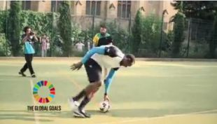 [VIDEO] Usain Bolt también se atrevió con el desafío Dizzy Goals Challenge