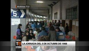 """Archivos T13: Así se vivió la jornada en que triunfó el """"NO"""" hace 27 años"""
