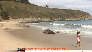 [VIDEO] Prohíben bañarse en 7 playas del litoral por Fragata Portuguesa