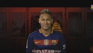 [VIDEO] Neymar se roba las miradas en saludo de FC Barcelona por Año Nuevo chino