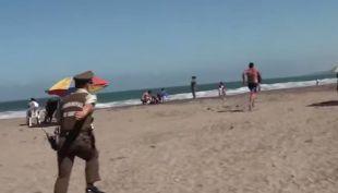[VIDEO] La increíble persecución de Carabineros en la playa de Cartagena