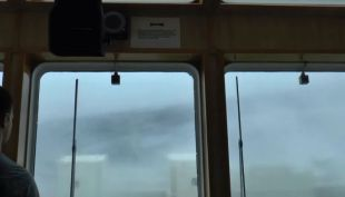 Ola de 30 metros impacta a un buque