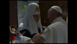 [VIDEO] Así fue el histórico encuentro entre el patriarca Kirill y el Papa Francisco