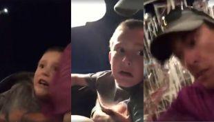 [VIDEO] Padre salva a su hijo en montaña rusa después que fallara su cinturón
