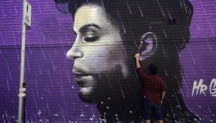 Prince en un grafiti hecho por un artista del grafiti australiano
