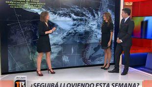 [VIDEO] Meteoróloga Michelle Adam pronostica nuevas lluvias a fines de semana