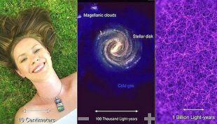 El video que muestra lo pequeños que somos en relación al cosmos