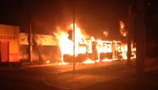 Pareja irá a la cárcel por quemar un bus del Transantiago