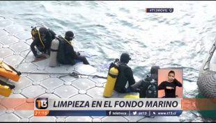 [VIDEO] Limpieza a fondo marino en Valparaíso