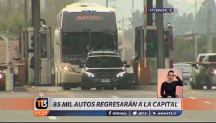 [VIDEO] Operación Retorno: 85 mil autos regresarán a la capital