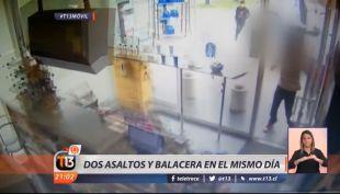 [VIDEO] Dos asaltos y una balacera afectan a local en el mismo día