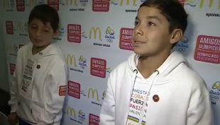 [VIDEO] Dos niños chilenos cumplirán su sueño en Río 2016