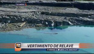 [VIDEO] Escurrimiento de un relave en Puchuncaví provoca gran contaminación en Valle los Maitenes