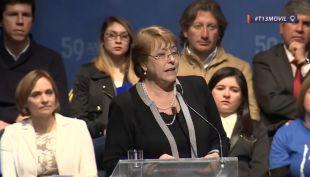 [VIDEO] Presidenta Michelle Bachelet pide evitar fuego amigo