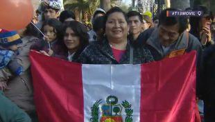[VIDEO] Peruanos en Chile celebran sus 195 años de independencia