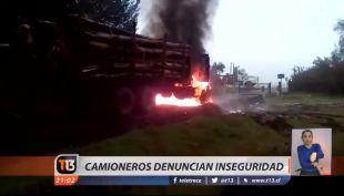 [VIDEO] Camioneros se manifiestan en peaje Angostura y exijen mejoras en seguridad
