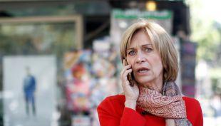 Evelyn Matthei llega votar a Providencia