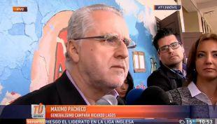 [VIDEO] Máxico Pacheco llega a votar y reitera llamado a participar en elecciones