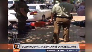 [VIDEO] Detienen a trabajadores tras confundirlos con asaltantes