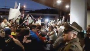[VIDEO] El masivo banderazo de los hinchas de Universidad Católica en Temuco