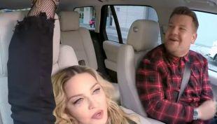 "Madonna estuvo en ""Carpool karaoke"" con James Corden"
