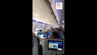 Piloto se emociona al aterrizar en Cuba