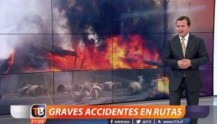 [VIDEO] Graves accidentes en rutas provocaron atochamientos en salidas de la Región Metropolitana
