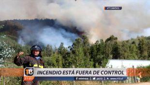 [VIDEO] El incendio que dejó a 3 brigadistas muertos en El Maule