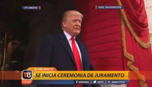 [VIDEO] La llegada de Donald Trump al Capitolio para asumir la presidencia