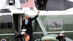 [VIDEO] El último adiós de Obama: salió del Capitolio en helicóptero