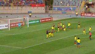 [VIDEO] El grueso error del arquero de Colombia en el primer gol del Sudamericano Sub 17
