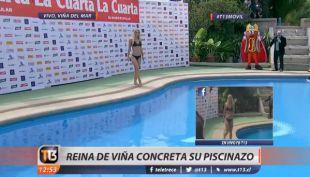Kika Silva realiza su piscina