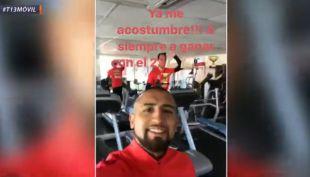 [VIDEO] Arturo Vidal vuelve a recordar que ya me acostumbré a siempre ganar con el 23