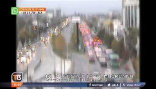 [VIDEO] El sismo en la zona central registrado por las cámaras de tránsito