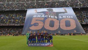 [VIDEO] El gran homenaje del Camp Nou a Lionel Messi por sus 500 goles con Barcelona
