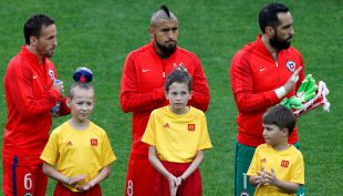 [VIDEO] Así se escuchó el himno de Chile en el Estadio del Spartak antes de enfrentar a Australia